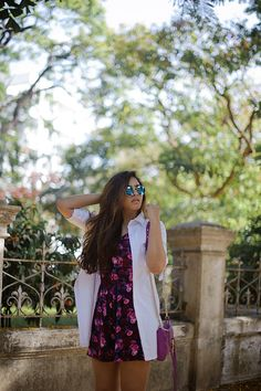 |Jumpsuit| Faballey| White| shirt dress| Shoes|Asos| Bag| Rebecca Minkoff| Sunglasses| Blue| Reflectors| Ootd| Daily Feature| Fashion| Blogger| Floral| Gold| Earrings|