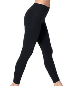 Another great find on #zulily! Black Fleece-Lined Leggings - Women #zulilyfinds