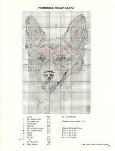 Corgi counted cross-stitch pattern