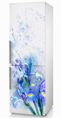 Refrigerator Decal Vinyl Sticker IRISES On The от ArinaDeco