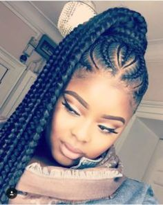 35 Feed In Braids Hairstyles For Natural Hair Feed In Braids The post 35 Feed In Braids Frisuren für natürliches Haar appeared first on Decoration and Outfits. Feed In Braids Hairstyles, Braided Ponytail Hairstyles, Ponytail Styles, Curly Hair Styles, Natural Hair Styles, Braided Ponytail Black Hair, Protective Hairstyles, Protective Styles, Natural Braids
