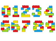 Block Numbers blocks, bricks, brick block Birthday numbers, machine embroidery assorted sizes, boys numbers embroidery designs - New Ideas Legos, Pokemon Lego, Embroidery Designs, Applique Designs, Lego Hogwarts, Lego Challenge, Lego Toys, Lego Lego, Lego Batman
