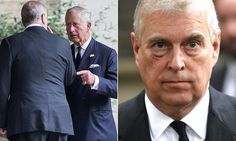 The Duke of York, 57, appeared to be sporting a painful-looking black eye as he joined prominent Royals in London for the funeral of Patricia, Countess Mountbatten of Burma on Tuesday.
