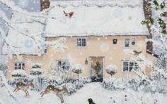 Homes & Gardens Portfolio | Lucy Grossmith | Heart To Art Art And Illustration, Illustrations, Snow Scenes, Winter Scenes, Images Vintage, Photo Images, Ouvrages D'art, Winter Art, Winter Snow