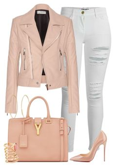 """""""Untitled #283"""" by emsdash ❤ liked on Polyvore featuring Frame Denim, Balenciaga, Yves Saint Laurent, H&M, Lana and Christian Louboutin"""