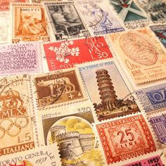 Buongiorno Italy 😊  Classic Italian stamps