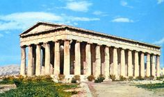 Doric temple. The oldest and simplest of the three main orders of classical Greek architecture, the Doric order is characterized by heavy fluted columns with plain, saucer-shaped capitals and no base.