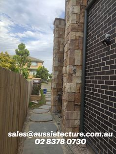 Colonial Ranch Sandstone Wall Cladding and Blue stone Stepping Stone.  #aussietecture #stonecladding #stonewalling #wallcladding #sandstone #retainingwalls  #homebuilder #instahome #architecture #landscape #landscapedesigner #landscaping #stonewall #naturalstonewall #naturalstonesupplier #homedesigns #stonemason #stonework #exteriorwall #housedesign #homebuilder #retainingwalls #stonescape #landscaper #gardendesign #gardeninspiration #flowerbox #landscapestone Natural Stone Cladding, Natural Stone Wall, Natural Stones, Exterior Wall Design, Interior And Exterior, Landscape Design, Garden Design, House Design, Sandstone Wall