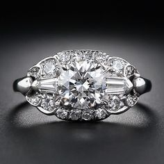 1.15 Carat Art Deco Diamond Engagement Ring Circa 1930-1940's... I think my heart just skipped a beat!