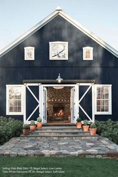 Love the color, love the barn. Deep blue, almost charcoal