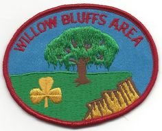 WILLOW BLUFFS AREA - GIRL GUIDES, CANADA - NEVER SEWN PATCH