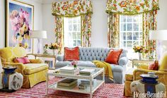 Miles Redd interior design Bailey McCarthy Biscuit Home linens Houston Texas David Kaihoi Bellville farmhouse country whimsical glamorous chic Formal Living Rooms, Living Spaces, Living Room Furniture, Living Room Decor, Biscuit Home, Colourful Living Room, Colorful Interiors, Living Room Designs, Family Room