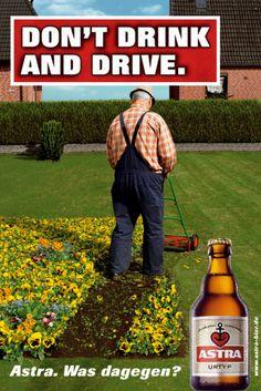 Auch zu Hause gilt: kein Alkohol am *Steuer*