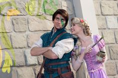 Disney Face Characters Rapunzel x Flynn Rapunzel Cosplay, Rapunzel And Eugene, Rapunzel Room, Tangled Rapunzel, Disney Couples, Disney Parks, Walt Disney World, Disney And Dreamworks, Disney Pixar