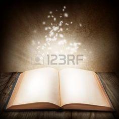 Open magic book photo