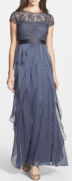Layered Chiffon & Lace Gown  http://rstyle.me/n/ecg36nyg6