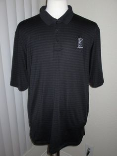 Under Armour Heat Gear Loose Embroidered Logo Men's Striped Golf Polo Shirt 2XL #UnderArmour #PoloRugby