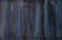 du bleu dans du noir Tie Dye Skirt, Painting, Stone, Blue, Painting Art, Paintings, Painted Canvas, Drawings