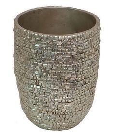 Loving this Silver Texture Planter on #zulily! #zulilyfinds