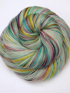 Hand Dyed Fingering, Sock Yarn, 100% Superwash Merino, Candy Shop on Etsy