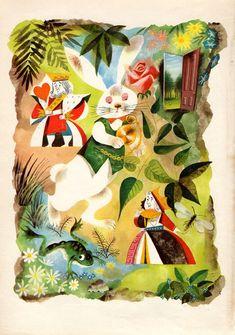 Leonard Weisgard's Stunning 1949 Alice in Wonderland Illustrations   Brain Pickings