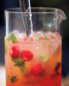 Strawberry, Basil, and Honey Punch Recipe   Martha Stewart