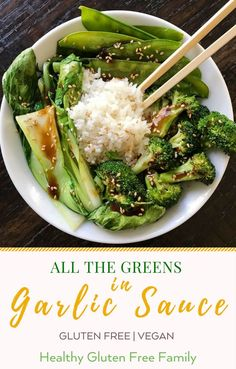 A easy, delicious dinner that's better than takeout! Broccoli, Bok Choy and Snow Peas quickly stir fried and sautéed in savory and perfectly flavored Garlic Sauce. Optional: stir fry some chicken for the meat lovers in your family. Veggie Dishes, Vegetable Recipes, Vegetarian Recipes, Healthy Recipes, Vegetable Dish, Vegetarian Stir Fry, Side Dishes, Main Dishes, Whole Food Recipes