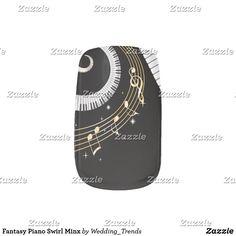 Fantasy Piano Swirl Minx Minx Nail Art