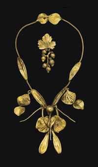 CLAUDE LALANNE Bronze Gilt Necklace, 1970