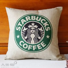 Starbucks Decorative Pillow covers  - 18x18 inch - Accent pillow  - Throw Pillow