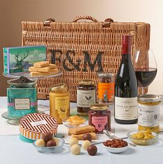The Blenheim Hamper - This sturdy hamper is filled with a feast of Fortnum's luxuries