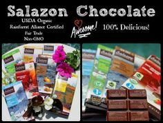 Salazon Chocolate GIVEAWAY (ends 6/3/2014). Enter to win a pack of ORGANIC, Fair Trade chocolate from Salazon Chocolate Company. It's delicious!