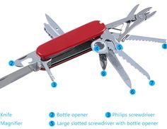 91mm Foldable Swiss Army Multitool