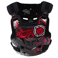 Red Motorcycles Racing Chest Vest Guard Protector Back Pads Body Armor Gear M-XL #POSSBAY