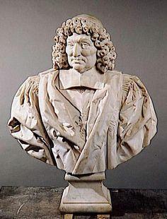 15- Buste de Pierre Séguier par Charles Herard. - § P. SEGUIER: En 1639, il est chargé de combattre la révolte des Nus-Pieds en Normandie contre l'augmentation de la gabelle. Il organise une répression très dure, exécutant de nombreux révoltés. Après la mort du cardinal Richelieu en 1642, il devient le protecteur de l'Académie française ,dont il a été élu membre en 1635. Lié au cardinal Mazarin, il est l'un des acteurs de l'accession d'Anne d'Autriche à la Régence en 1643.