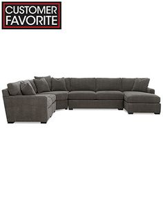 Radley 5-Piece Fabric Chaise Modular Sectional Sofa