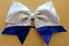 Blue Wave Bow by Empire Cheer, $15.00 #cheerbow #hairbow #cheerleadingbow
