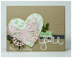 Martha Inchley - Bold Butterfly - Stampin' Up! Crazy About You, Love Cards, Stampin Up Cards, Catalog, Paper Crafts, Butterfly, Purple, Creative, Stamping