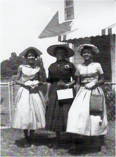 "B.B., Earlene and Leboria Smith, sisters from Silsbee, Texas, in the early 1950's. The Smith family mantra was always ""No matter what your situation, you are to always present yourself with your head high and filled with pride."" Photo courtesy of their grandson/nephew Marcus Brian Carter."