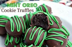 Mommy's Kitchen - Old Fashioned & Southern Style Cooking: St. Patrick's Day Treat {Mint Oreo Cookie Truffles}