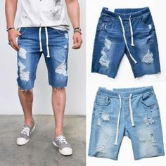 Damaged Cut-off Slim Ankle-Jeans 354 by Guylook.com Refreshing ...