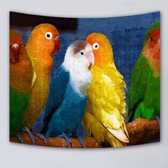 No-fade Bedding Outlet Hand Tapestry famous drawing bird animal Wall Hanging Tapestry for Home Psychedelic Bedspread 3 Sizes Home Textile, Textile Art, Colorful Tapestry, Psychedelic Tapestry, Bird Drawings, Tapestry Wall Hanging, Popular Pins, Bed Spreads, Modern Design