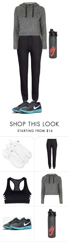 """Workout"" by juditha22 ❤ liked on Polyvore featuring NIKE, H&M, adidas and Topshop"