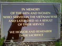 in memory of my brother-in-law, Paul Mitchell, who died from his exposure to the chemical defoliant Agent Orange during the Vietnam conflict.  We miss you, Russ...