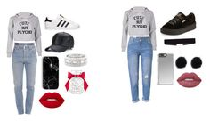 """""""Fashion face off"""" by zaicute on Polyvore featuring WithChic, Vetements, adidas, Puma, 8 Other Reasons, Sole Society, Victoria's Secret and Lime Crime"""