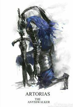 Artorias the Anysswalker Medieval Fantasy, Dark Fantasy, Fantasy Art, Dark Souls Artorias, Soul Saga, Dark Souls 2, Soul Tattoo, Armadura Medieval, Fantasy Weapons