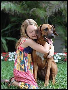 A beautiful portrait of a child with a service dog...