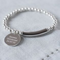 Personalised Pendant Christening Bracelet: Item number: 3487452627 Currency: GBP Price: GBP34.95