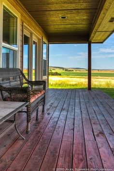 I would imagine that watching a storm roll in while sitting on this porch would be a wondrous thing!