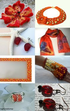 Red and Orange curated by CarlasCraft --Pinned with TreasuryPin.com